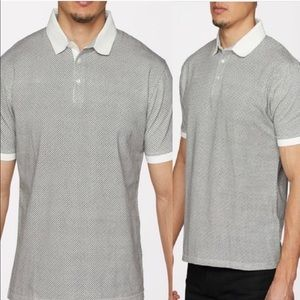 NWT Mens Polo White Collar Trim